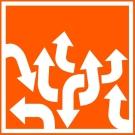 BCS Employee Assistance Program logo white arrows on Orange background