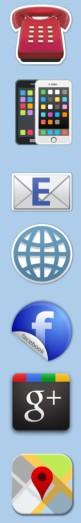 Contact and social media contact logos
