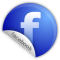 Blue round facebook logo