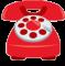 red landline phone